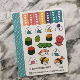Happie Scrappie | Sushi Planner Stickers (Foldable)