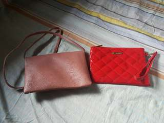 Women sling bag and pouch
