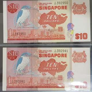 10pcs Run $10 Bird Consecutive Running UNC
