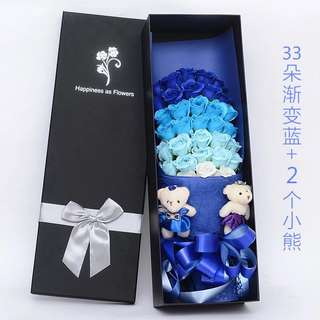 ❣️$3⃣️5⃣️❣️33 soap flower+2 bear /Valantine Flower/Mother day Flower