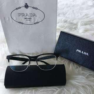 Authentic Prada Matte Black Eyeglasses