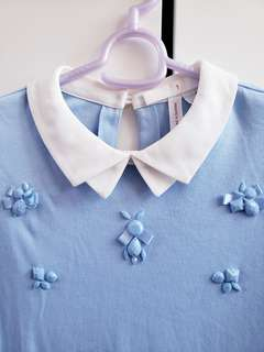 bread n butter 粉藍色長袖衫