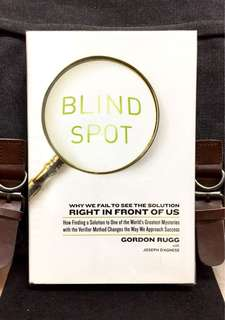 # Highly Recommended《Bran-New + Hardcover Edition + Approach That Challengs Us On The Way We Think & Deciide And  & Why Expert Fail 》Gordon Rugg - BLIND SPOT : Why We Fail to See the Solution Right in Front of Us