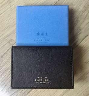 Smythson Card Holder Wallet - Deep Brown