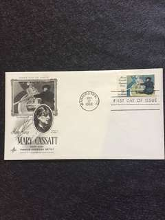 US 1966 Mary Cassatt FDC stamp