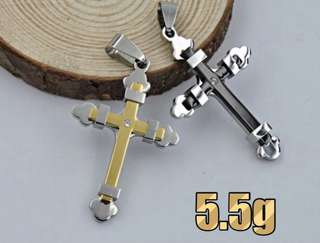 Stylish Stainless steel cross pendant ( NO CHAIN )