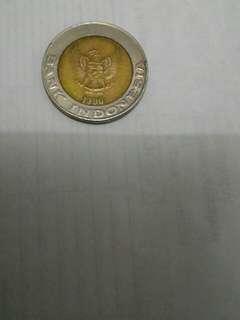 Uang koin 1000 kelapa sawit th. 1996