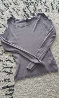 H&M grey knitted wear top