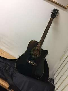 Green Ibanez Acoustic Guitar