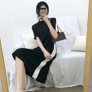 INSTOCKS Black white midi dress