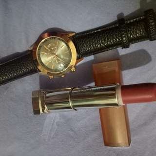 Repriced!!! Timeless Watch W/ Almond Pink Maybelline Lipstick 💋