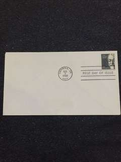 US 1966 High Value $5 John Bassett Moore FDC stamp