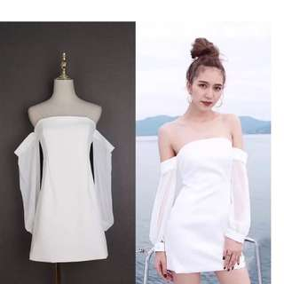 White Off shoulders Dress