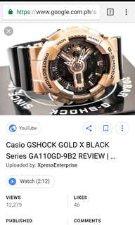Casio G-Shock Watch in Rose Gold
