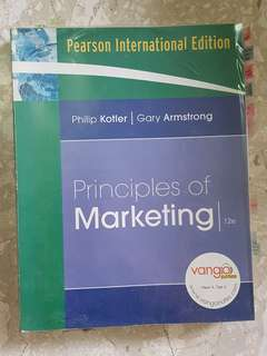 Principles of Marketing, Philip Kotler & Gary Armstrong