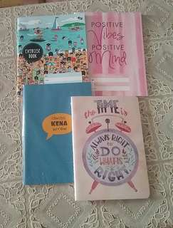 Notebooks with unique eyecatching cover illustrations (bundle) 4 nos.
