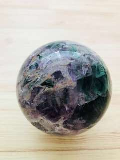 Fluorite crystal geode sphere ball