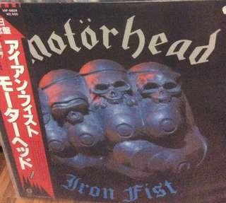 NM Motorhead japan press obi iron fist record vinyl metal