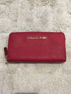 Michael Kors Red Wallet with zip
