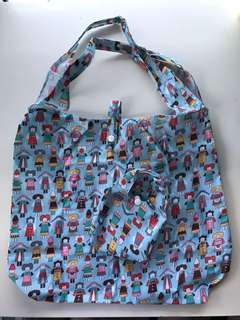 Cute Convertible Foldable Travel Shopping Bag | Recycle Hand Carry Tote Bag | Nylon Waterproof Compact Lightweight Pouch