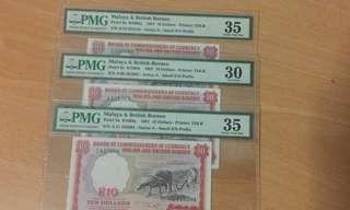 1961 Malaya $10 (Buffalo)