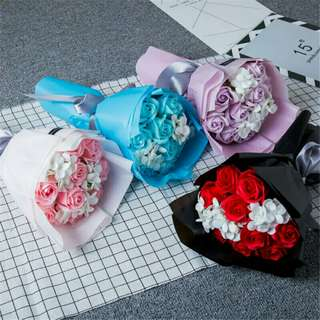 *FREE DELIVERY to WM only / Pre order 18 days* 11pcs soap flower each set as shown design/color. Free delivery is applied for this item.