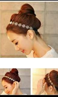 Metalic Rose Hairband