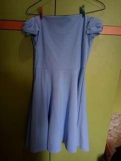 (PRELOVED) SABRINA DRESS / DRESS SABRINA / SABRINA RIBBON DRESS / DRESS SABRINA PITA / DRESS PESTA / DRESS IMPORT / DRESS HONGKONG / DRESS PASTEL BIRU