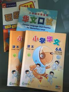 Chinese language for Primary School and Oral practice Books