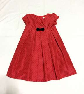 Carters red dress with black bow