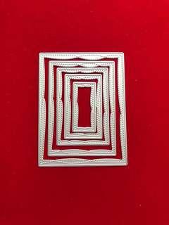 Rectangle frames #14 scrapbook Cutting Dies