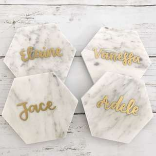 Customized marble coasters Bridesmaid gifts wedding decor