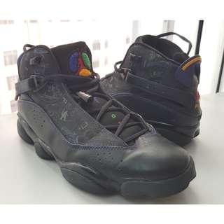 Nike Air Jordan 6 Rings Black Varsity Red Green Purple Shoes Men's 10.5 Limited