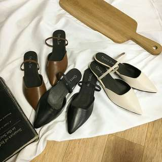 (PO) Slingback pointed sandals
