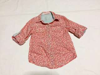 Gingersnaps peach pink polo
