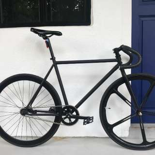 black fixie full bike