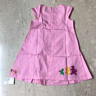 Barney pink dress (size M, 4 years)