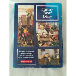 Funny Bear Diary (with lock and key) + Teddy Bear Laser stickers