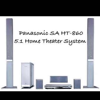 Panasonic 5.1 Home Theater System 99% New (FREE GIFT🎁a pair of IKEA speaker stands)