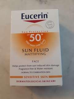 Eucerin matifying sun protection fluid