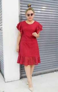 Pre-order JL060516  Plus size lace dress