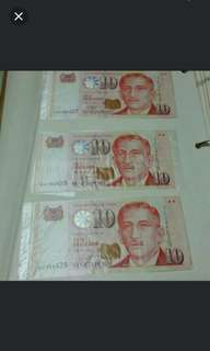 Money RUNNING # collector - PAPER President series Singapore currency *K