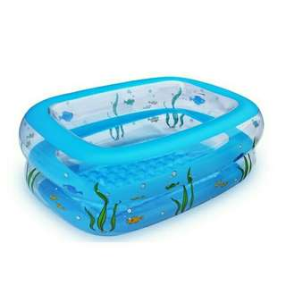Intime Infant Baby Children's Swimming Pool 110x90x40CM Free Hand Pump