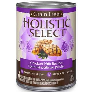 Holistic Select Grain Free Chicken Pate Canned Dog Food 368g x 24 cans