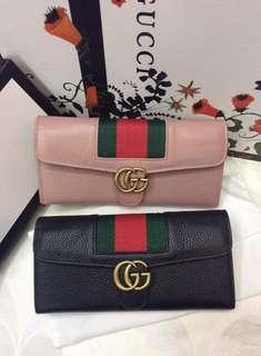 Gucci Flap Stripes Wallet