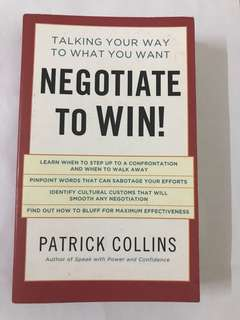 (Good as New) Negotiate to Win!   PATRICK COLLINS