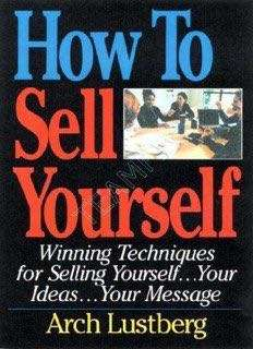 How to sell yourself by Arch Lustberg