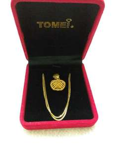 Tomei Gold Necklace 916 (Without pendant)