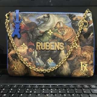 Authentic Super Rare Louis Vuitton Jeff Koons Masters Rubens Collection Pochette Wrislet