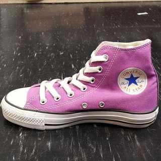 🚚 Converse 粉紫色高筒帆布鞋